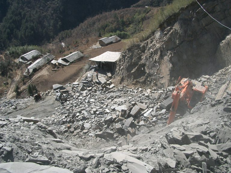 Chinese slate quarry