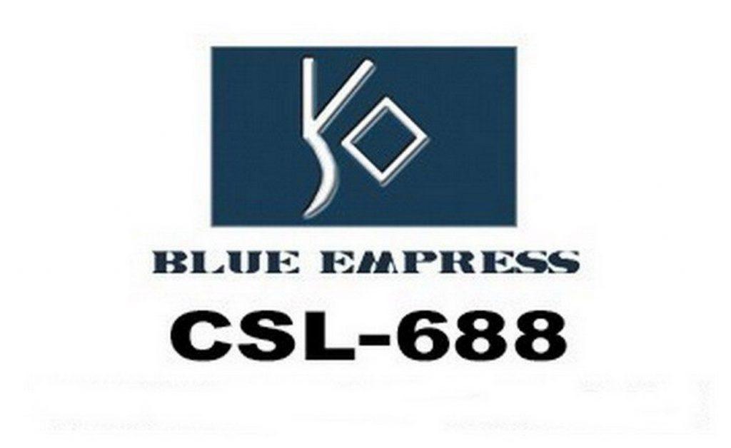 688 Blue Empress slate logo