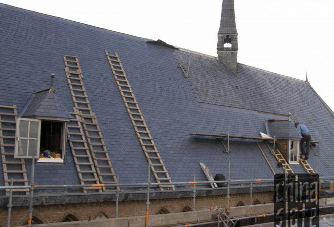 Emperor 681 church Netherlands replace slate roof