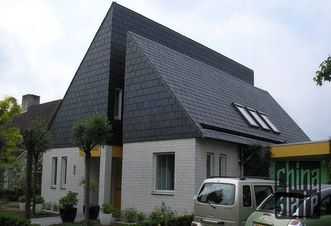 Emperor 681 Chinese slate on a modern house in the Netherlands
