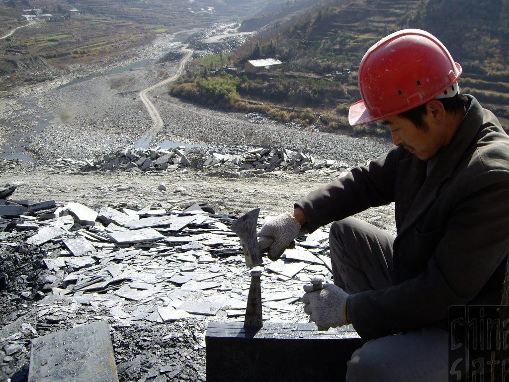 Splitting slate in China