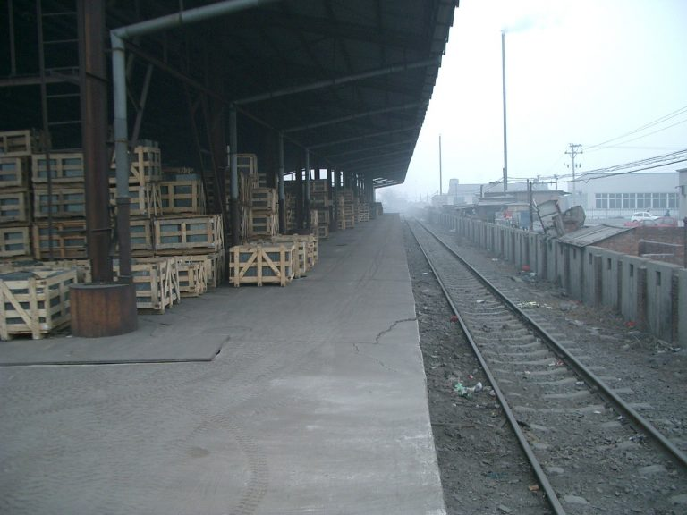Shipping slate by rail